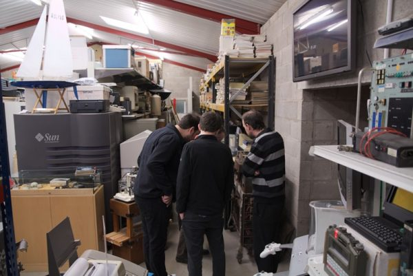 Inspecting the computer collection/museum