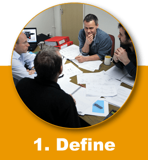 Define is the first stage of the GSPK Design Process